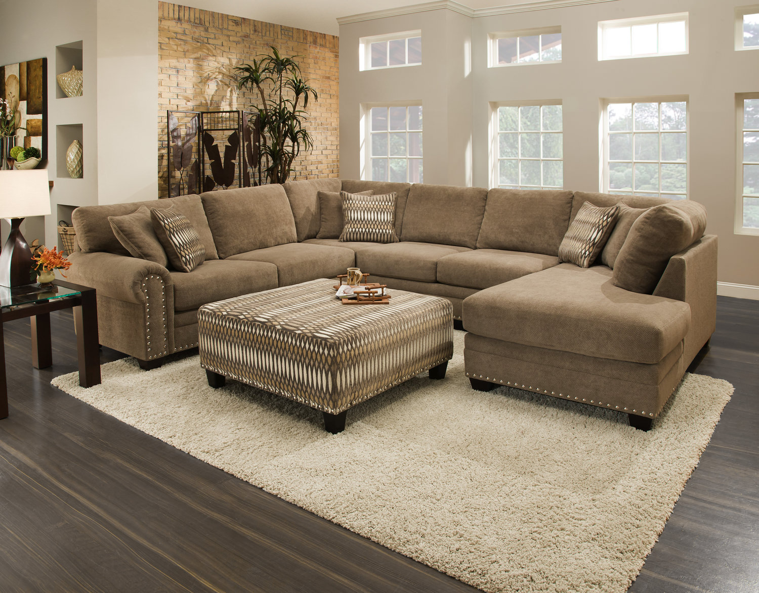 sale 1999 : sectional couch with large ottoman - Sectionals, Sofas & Couches