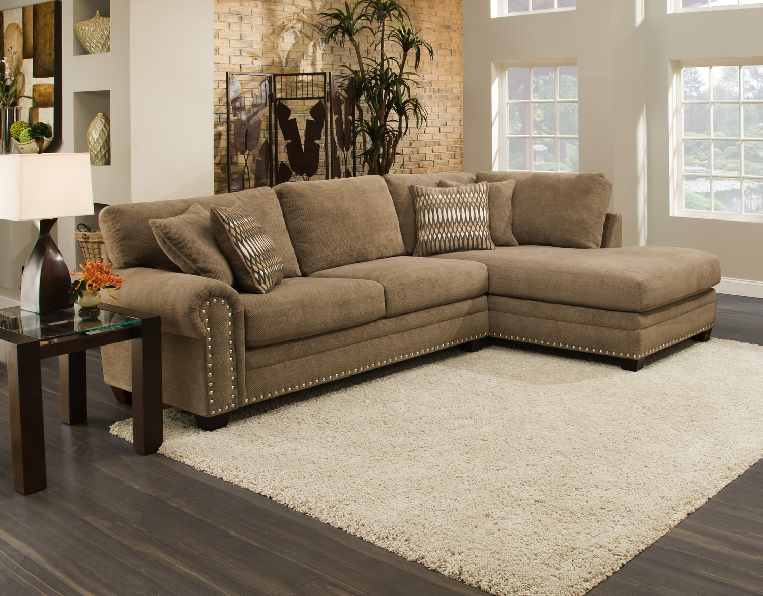 Oates 2 Piece Modular Sectional HOM Furniture