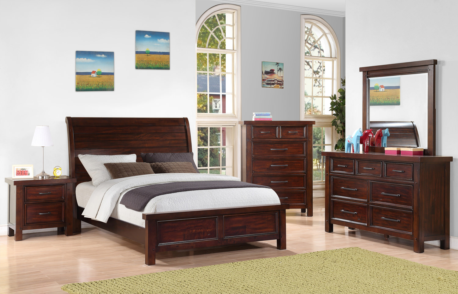Delray Sleigh Bedroom Suite By Thomas Cole Hom Furniture