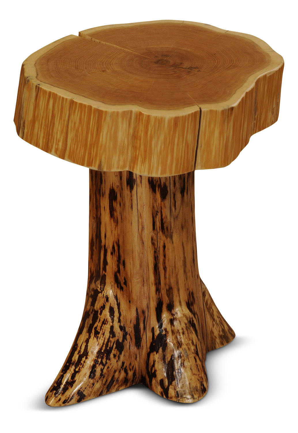 Cedar Log Stump End Table Hom Furniture