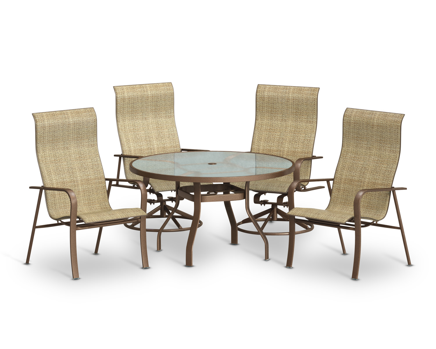 Kashton 5 piece patio set clearance by homecrest hom for Homecrest patio furniture