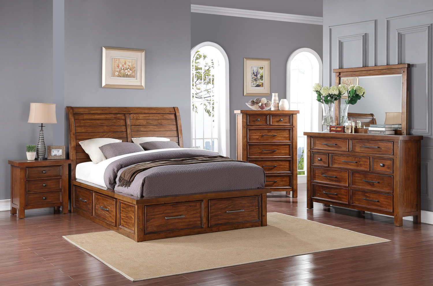 Delray Storage Bedroom Suite By Thomas Cole Hom Furniture