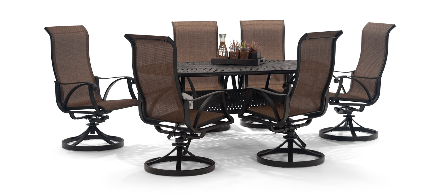 san tropez 7 piece patio dining set hom furniture furniture stores