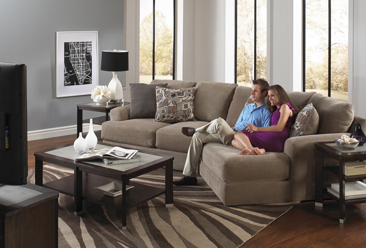 Regal 2 Piece Modular Sectional ...