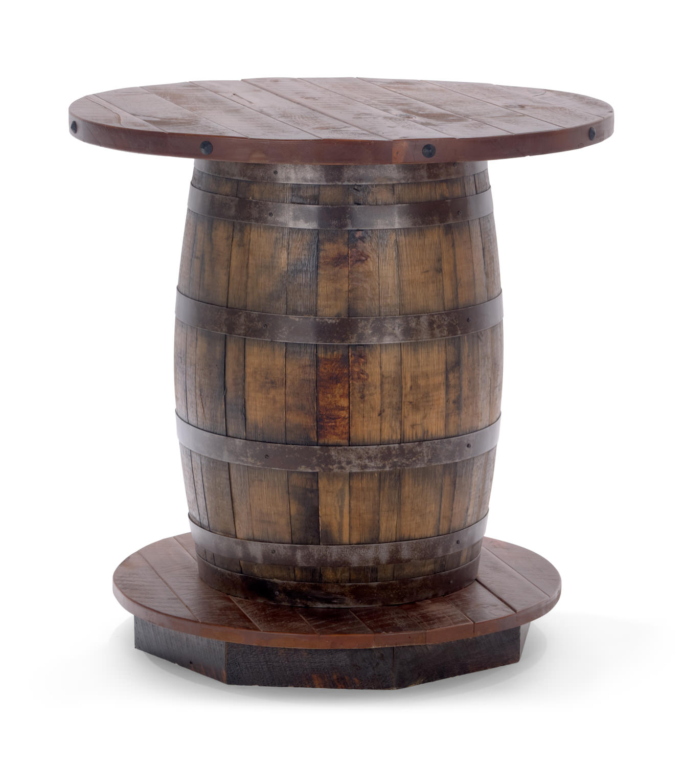 Old Fitz Reclaimed Whiskey Barrel table HOM Furniture : 96294 2 from www.homfurniture.com size 1336 x 1500 jpeg 133kB
