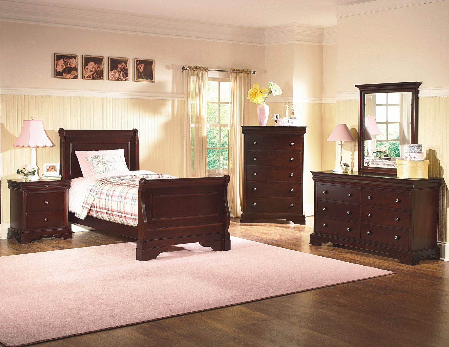 Simple Sleigh Bedroom Sets Collection
