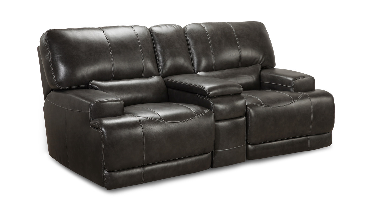 Prix Leather Power Reclining Loveseat With | HOM Furniture